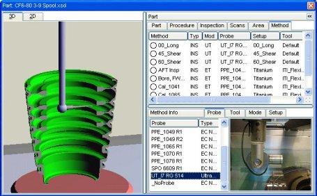 multi axis turbine spool inspection
