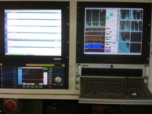 MFD box PC with two monitors for the ultrasonic presentation